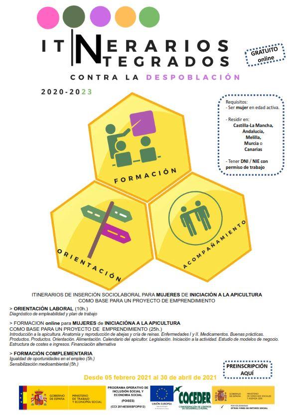 Cartel itinerario mujeres Apicultura